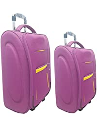 "Aqeeq Stylish DarkPurple Vintage Combo Trolley Set Of 18"" & 20"" Cabin Luggage Bag( Navy Blue,Purple,Grey,Red,Black..."
