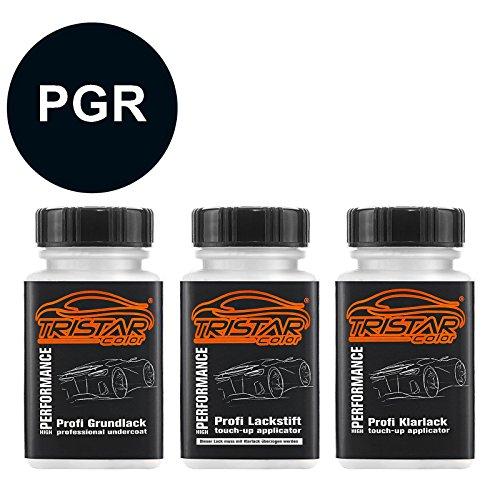 Preisvergleich Produktbild TRISTARcolor Autolack Lackstift Set für Chrysler / Dodge / Jeep / Plymouth / Viper PGR Anaconda Green Perl Grundlack Basislack Klarlack je 50ml