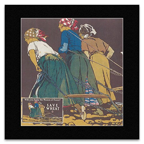 women-of-france-save-wheat-matted-mini-poster-19x18cm