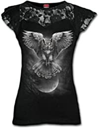 Spiral - WINGS OF WISDOM - Womens Lace Layered Cap Sleeve Top