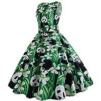 031be2522a Naturazy-Vestidos Vestidos De La Vendimia De La ImpresióN Cuello Redondo  Sin Manga Vestidos De