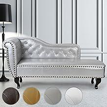 Miadomodo - CHLG01Silber - Diván diseño elegante - Plateado - Aprox. 165 x 80 x 60 cm - Diferentes colores a elegir