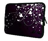 'Luxburg 17pollici Custodia Borsa Pochette per PC portatile/tablet–Fiori & Stars