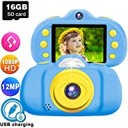 GBD 12MP Kids Camera Toys for Boys Girls, HD 1080P Selfie Video Camera with MP3 Player Games Dual Lens, 2.4&qu