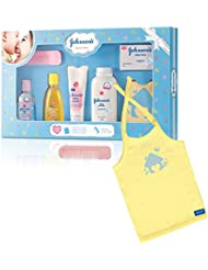 Johnson's Baby Care Collection Baby Gift Set with Organic Cotton Baby Tshirt (7 Pieces)