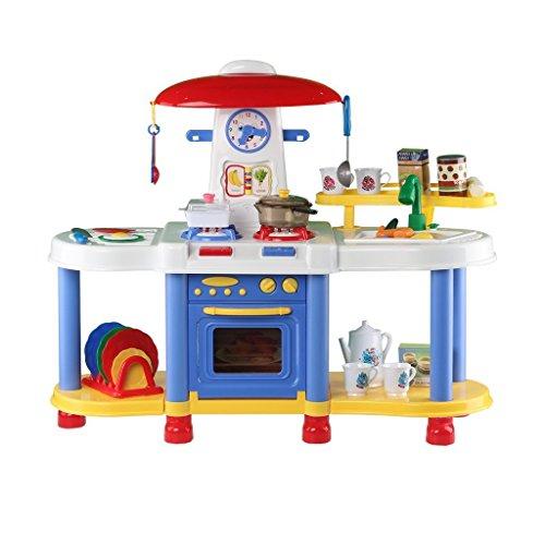 deAO (K6B) - Cocina de juguete con luces y colores - Azul