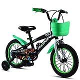 TSDS Bicicleta Infantil de 18 Pulgadas Bicicleta Verde/Naranja/Azul/Rosa Moda Bicicleta de montaña (Color : C)