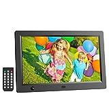 HD Digitaler Bilderrahmen 12 Zoll, ICOCO 1920*1080P IPS LCD Display mit Bewegungssensor/Autodrehung/Kalendar/Uhr Funktion, MP3/Foto/Videoplayer mit Fernbedienung