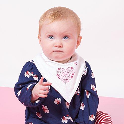 Lovjoy Baberos del beb/é Paquete de 5 Dise/ños para ni/ña Bonitos Rosas