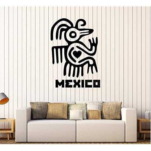 shensc Mexiko Wandtattoo Lateinamerika Maya Aztec Alte Figur Aufkleber für Wohnzimmer Schlafzimmer Vinyl Aufkleber Vintage Poster 42x59 cm (Aztec Figuren)