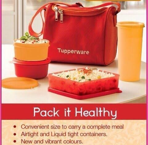 Tupperware Best Lunch Set, 4-Pieces And Lunch Bag  available at amazon for Rs.710