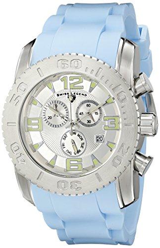 Swiss Legend 10067-02S-BBLS - Reloj de Pulsera Hombre, Silicona, Color Azul