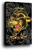 Ed Hardy Poster als Blockbild - Leopard 13 (91 x 61cm)