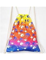Katomi Fresh Artistic loneta Preppy Style–Mochila para Niñas Cordón restringido Entry Bolsa de viaje