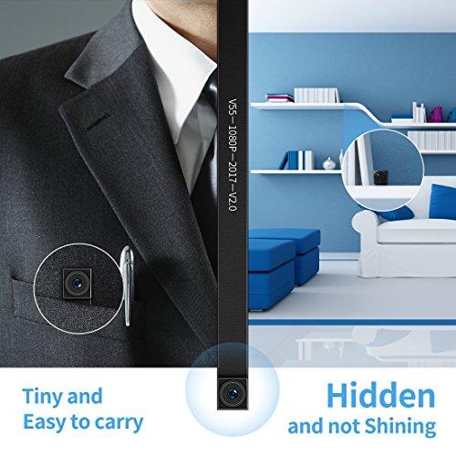 FREDI Microcamera spia HD 720P con rete Wireless micro ip camera Wi-Fi Telecamera nascosta cam modulare P2P fai da te senza fili con sensore di movimento - Videocamera DV Digital Video Recorder - 2
