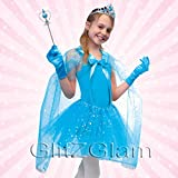 Disfraz de Hada / Disfraz de Princesa -Juego de 5 accesorios - Turquesa estilo Frozen