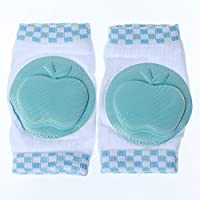 A-szcxtop Infant Toddler Baby KneePad Crawling Safety Protector Pop(Blue)