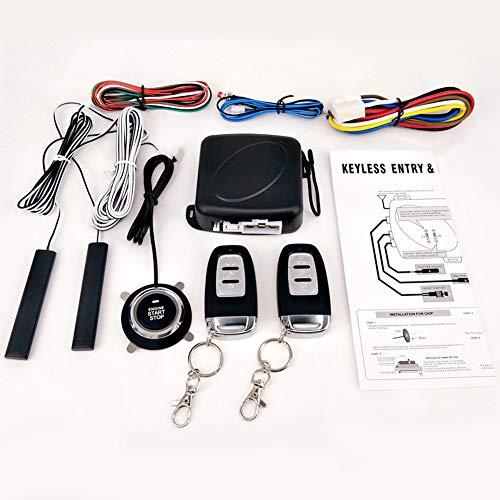 ETbotu 9 pcs/lot Car SUV Verrou de Porte d'entrée sans système d'alarme de démarrage du Moteur Bouton Poussoir véhicule Remote Central kit