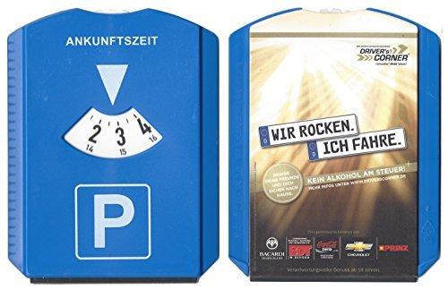 Preisvergleich Produktbild Driver's Corner Parkscheibe - WIR ROCKEN. ICH FAHRE Kein Alkohol am Steuer 3 in 1 Parkscheibe, Eiskratzer und Wischlippe in Einem - Hartkunststoff