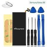 Mbuynow Ersatz Akku für Samsung Galaxy S8, 3000mAh Batterie Austausch für Galaxy S8 Battery Reparaturset Li-Ion Batterie mit Werkzeug und Anleitung