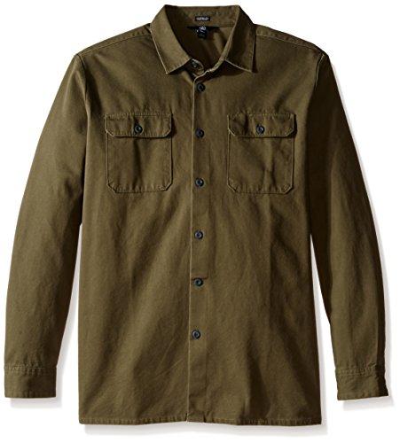 Camicia A Maniche Lunghe Volcom Crawford Military (L , Verde)
