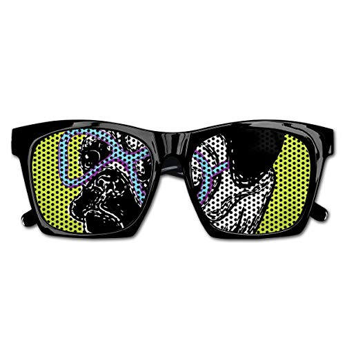 EELKKO Mesh Sunglasses Sports Polarized, Cute Dog with A Bow Tie and Nerdy Glasses On Green Shade Backdrop,Fun Props Party Favors Gift Unisex