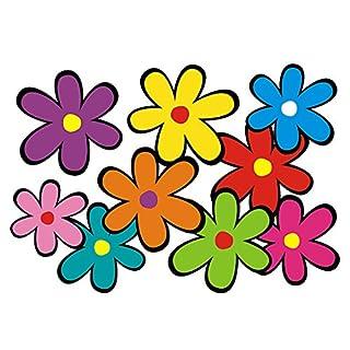 aufgeklebt.de Mini Hippie Flower Sticker: Mini 01 - Set 5-26 Flowers bunt gemischt!