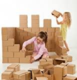 GIGI Bloks Giant Interlocking Cardboard Building Blocks (60 Blocks)