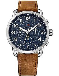 Tommy Hilfiger Reloj Multiesfera para Hombre de Cuarzo con Correa en Cuero 1791424