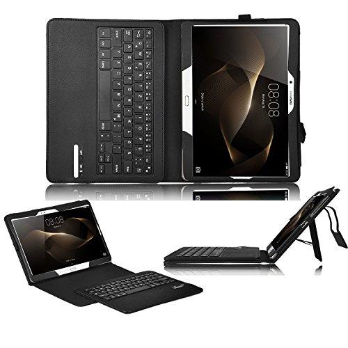 Huawei MediaPad M2 10.0 Bluetooth Tastatur [QWERTZ Tastatur],IVSO mit Standfunction,Abnehmbare Wireless Bluetooth Tastatur Schutzhülle NUR geeignet für Huawei MediaPad M2 WiFi 25,4 cm (10 Zoll)/ Huawei MediaPad M2 Standard 25,4 cm (10 Zoll)/ Huawei MediaPad M2 LTE 25,4 cm (10 Zoll) Tablet-PC