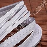 Pandahall 1200Stück Papierstreifen für Quilling DIY Bastelzubehör ca. 120Streifen/Tüte Papier Rosa 530x 5mm, Papier, weiß, 530x5mm