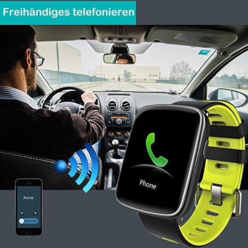 YAMAY Smartwatch Wasserdicht IP68 Smart Watch Uhr mit Pulsmesser Fitness Tracker Sport Uhr Fitness Uhr mit Schrittzähler,Schlaf-Monitor,Stoppuhr,Call SMS Benachrichtigung Push für Android und iOS - 6