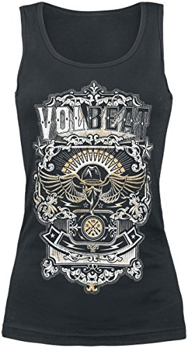 Volbeat Old Letters Top donna nero S
