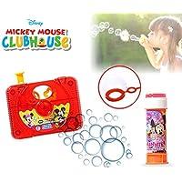 Set infantil juguetes (cámara de fotos con pistola de pompas)diferentes motivos - Mickey