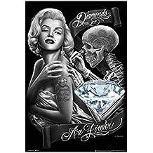 David Gonzales Art - Diamonds Poster (60,96 x 91,44 cm)