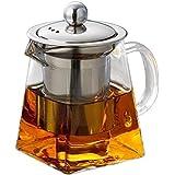 BESTONZON Stainless Steel Infuser Strainer Heat Resistant Glass Tea Pot Tea Cup For Loose Leaf Tea