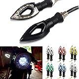 oenbopo 2wasserdichte Motorrad Turn Signal Light Kontrollleuchte Motorrad LED Blinker Indikatoren Herz 12V, weiß