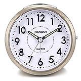 Yadelai Reise Analoge Wecker,Snooze und Licht Funktionen Morgen Uhr für Kinder Männer Frauen Home Schlafzimmer Büro Uhr (Gold)