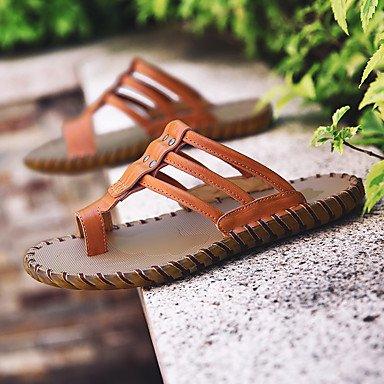 Slippers & amp da uomo;Estate con laccio dietro al Comfort Light Soles pelle bovina esterna casuale Studded Wate sandali US7 / EU39 / UK6 / CN39