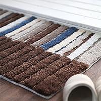 HDWN Il salotto al piano di stuoia tappeto camera da letto porta strisce stuoie 50 * 80 , brown , 50*80
