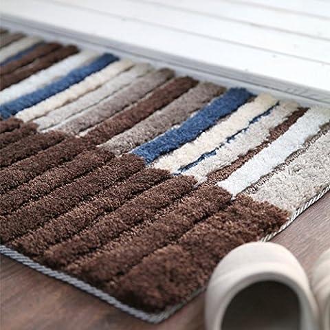 Il salotto al piano di stuoia tappeto camera da letto porta strisce stuoie 50 * 80 , brown , 50*80