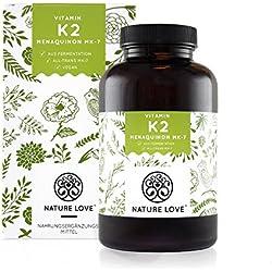 Vitamin K2 MK7-365 Kapseln für 1 Jahr. Hochdosiert mit 200 µg (mcg). Premiumqualität: VitaMK7 von Gnosis. Pflanzliches Menaquinon 7 (MK 7) mit >99% All Trans. Vegan, hergestellt in Deutschland