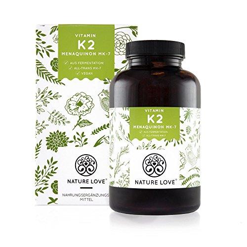 Vitamin K2 MK7-365 Kapseln für 1 Jahr. Hochdosiert mit 200 µg (mcg). Premiumqualität: VitaMK7 von Gnosis. Pflanzliches Menaquinon 7 (MK 7) mit >99{c4e7af1f09e93533e2c330d31f4b655c9ec6debde28fee3e81b3fbc32c22274b} All Trans. Vegan, hergestellt in Deutschland
