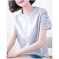 TAIDUJUEDINGYIQIE Camiseta Manga Corta Loose Cotton Summer New, Gris, 3XL