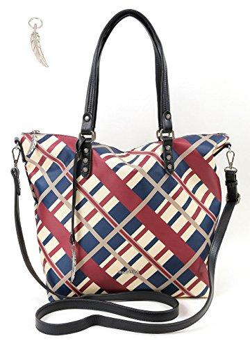 97a457fd8ecbf Handtasche von Waipuna aus hochwertigem Nylon mit Schlüsselanhänger ...