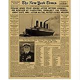 WFYY Die New York Times Alte Zeitung Poster Vintage Zeichnung Retro Malerei Wandkunst Aufkleber Wohnzimmer Decor 42X30Cm