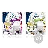 Set 6 GLADE Deodorant Electricarica 1 +1 Charger Odeur Mix De Base De La Maison