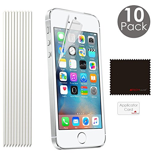pack-of-10-techgearr-apple-iphone-se-iphone-5s-5c-5-ultra-clear-screen-protector-guard-cover-with-sc