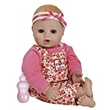 "Adora PlayTime Baby Flower Vinyl 13"" Girl Weighted Washable Cuddly Snuggle Soft Toy Play Doll Gift Set with Open/Close Eyes for Children 1+ Includes Bottle"