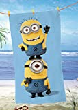 Minions Strandtuch FUN Global Labels Velours 75 x 150